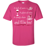 A Ball of Yarn a Glass of Wine Men's and Unisex T-Shirts - Crafter4Life - 5