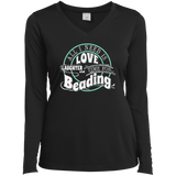 Time for Beading Ladies Long Sleeve V-neck Tee - Crafter4Life - 3