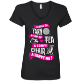 A Ball of Yarn Ladies V-Neck T-Shirt