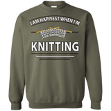 I Am Happiest When I'm Knitting Crewneck Sweatshirts - Crafter4Life - 4