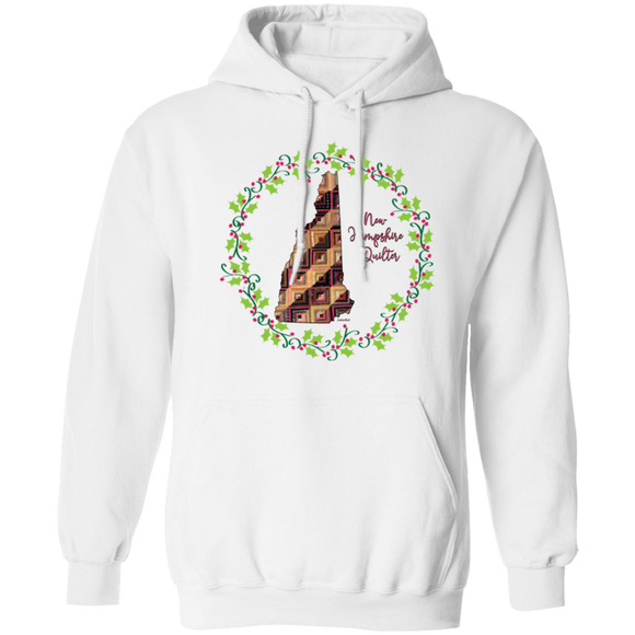 New Hampshire Quilter Christmas Pullover Hoodie