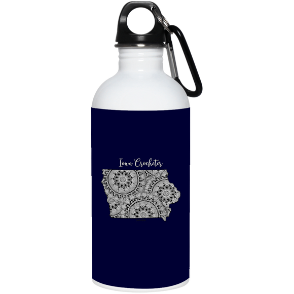 Iowa Crocheter 20 oz. Stainless Steel Water Bottle