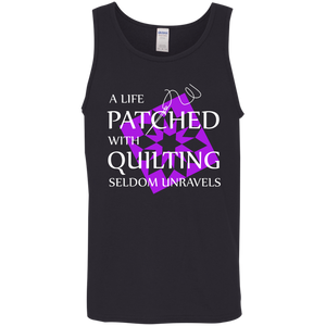 Quilting Seldom Unravels Cotton Tank Top