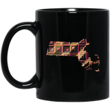 Massachusetts Quilter Black Mugs
