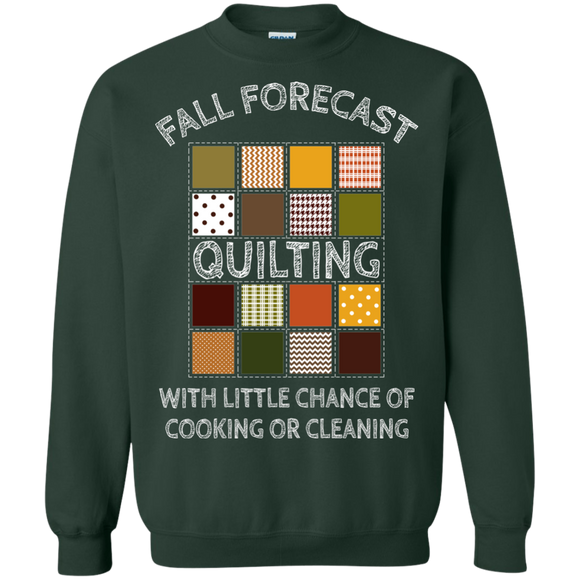 Fall Forecast - Quilting Crewneck Pullover Sweatshirt