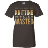 Time Spent Knitting Ladies Custom 100% Cotton T-Shirt - Crafter4Life - 4
