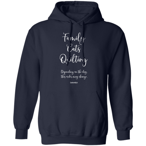 Family-Cats-Quilting Pullover Hoodie