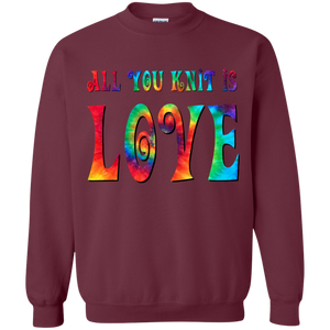 All You Knit is Love Crewneck Pullover Sweatshirt