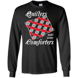 Quilters Make Better Comforters Long Sleeve Ultra Cotton T-Shirt - Crafter4Life - 2