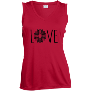 LOVE Quilt  Ladies Sleeveless Moisture Absorbing V-Neck