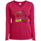 I'd Rather Be Scrapbooking Ladies Long Sleeve V-neck Tee - Crafter4Life - 3