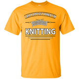 I Am Happiest When I'm Knitting Custom Ultra Cotton T-Shirt - Crafter4Life - 6