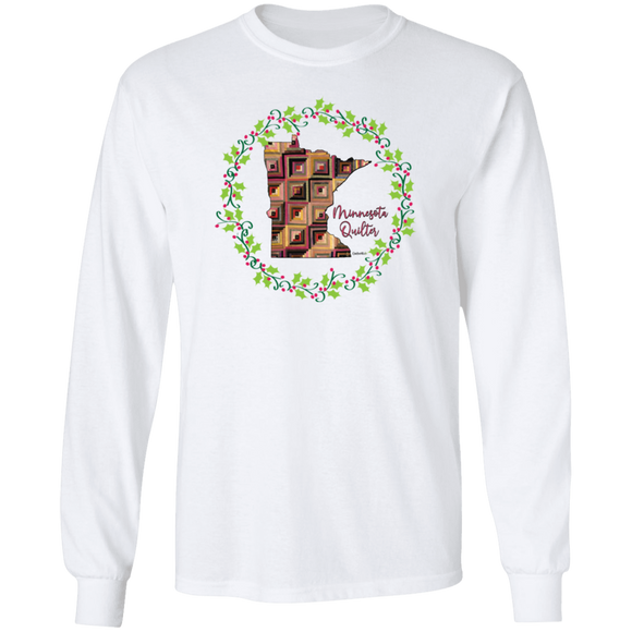 Minnesota Quilter Christmas LS Ultra Cotton T-Shirt