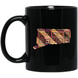 Connecticut Quilter Black Mugs