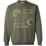Wish I May Quilt Crewneck Sweatshirts - Crafter4Life - 10