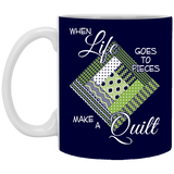 Make a Quilt (Greenery) Mugs