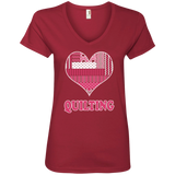 Heart Quilting Ladies V-neck Tee - Crafter4Life - 3