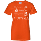 A Happy Me Ladies Custom 100% Cotton T-Shirt - Crafter4Life - 10