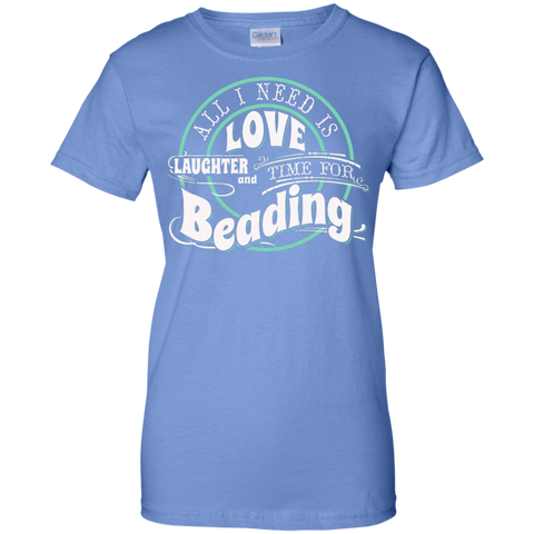 Time for Beading Ladies Custom 100% Cotton T-Shirt - Crafter4Life - 1