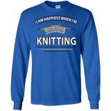 I Am Happiest When I'm Knitting Long Sleeve Ultra Cotton T-Shirt - Crafter4Life - 7