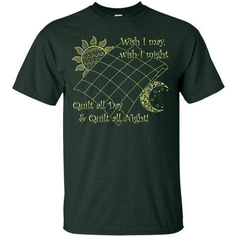 Wish I May Quilt Custom Ultra Cotton T-Shirt - Crafter4Life - 1