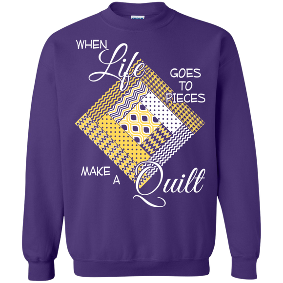 Make a Quilt (yellow) Crewneck Sweatshirts - Crafter4Life - 7