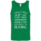 8th Day For Beading Cotton Tank Top
