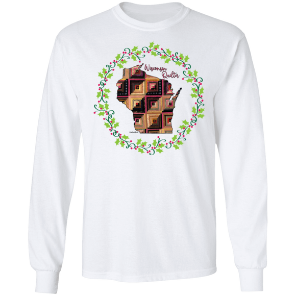Wisconsin Quilter Christmas LS Ultra Cotton T-Shirt