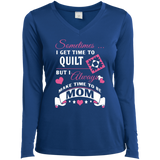 Time-Quilt-Mom Long Sleeve V-neck Tee - Crafter4Life - 7