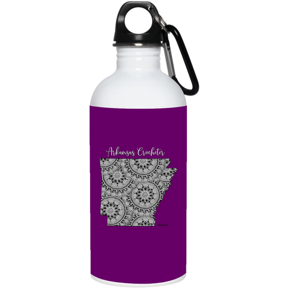 Arkansas Crocheter 20 oz. Stainless Steel Water Bottle