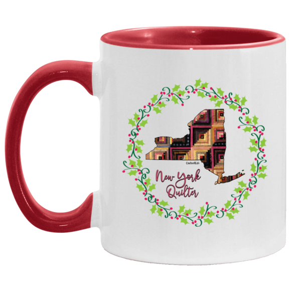 New York Quilter Christmas Accent Mug