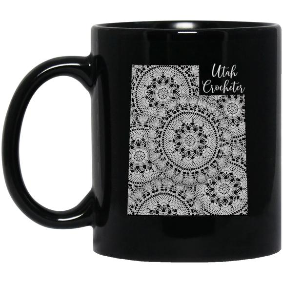 Utah Crocheter Black Mugs