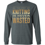Time Spent Knitting Long Sleeve Ultra Cotton T-Shirt - Crafter4Life - 4