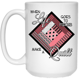 Make a Quilt (Pink) White Mugs