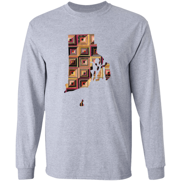 Rhode Island Quilter LS Ultra Cotton T-Shirt