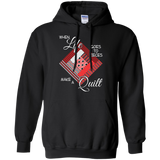 Make a Quilt (red) Pullover Hoodies - Crafter4Life - 2