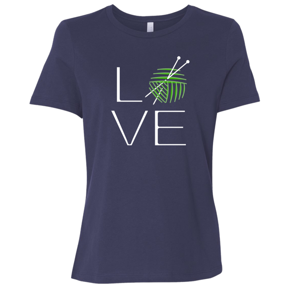 LOVE Knitting Ladies Relaxed Jersey Short-Sleeve T-Shirt