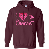 I Heart to Crochet Pullover Hoodie