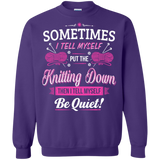 Put the Knitting Down Crewneck Sweatshirts - Crafter4Life - 7