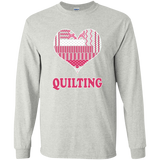 Heart Quilting Long Sleeve Ultra Cotton T-Shirt - Crafter4Life - 3