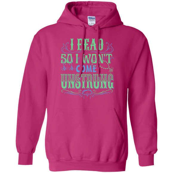 I Bead So I Won't Come Unstrung (aqua) Pullover Hoodies - Crafter4Life - 1