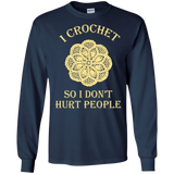 I Crochet So I Don't Hurt People Long Sleeve Ultra Cotton T-Shirt - Crafter4Life - 10