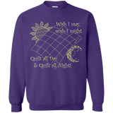 Wish I May Quilt Crewneck Sweatshirts - Crafter4Life - 8