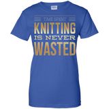 Time Spent Knitting Ladies Custom 100% Cotton T-Shirt - Crafter4Life - 8