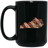 Kentucky Quilter Black Mugs