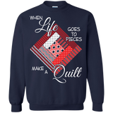 Make a Quilt (red) Crewneck Sweatshirts - Crafter4Life - 4