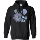 Crochet Collage Pullover Hoodie