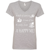 A Happy Me Ladies V-neck Tee - Crafter4Life - 2