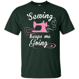 Sewing Keeps Me Going Custom Ultra Cotton T-Shirt - Crafter4Life - 3
