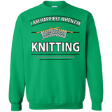 I Am Happiest When I'm Knitting Crewneck Sweatshirts - Crafter4Life - 12